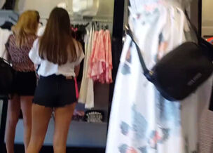 Booty shorts candid